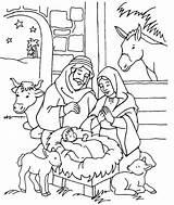 Jesus Coloring Born Sheet Nativity Manger Sheets sketch template