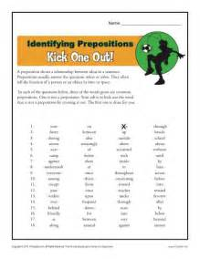 Identifying Prepositions Worksheet
