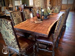 Wood Slab Dining Table Littlebranch Farm