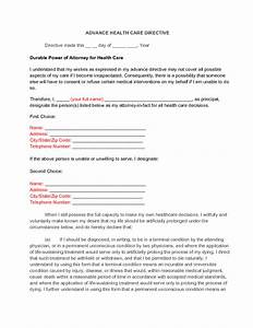 Delighted health care directive template ideas resume for Advanced directive template
