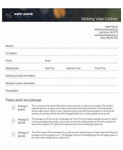 sample wedding contract agreements 9 examples in word pdf With wedding video contract template