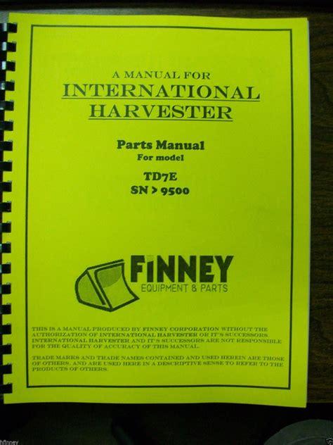 international ih dresser tde crawler tractor dozer parts book manual  sn  finney