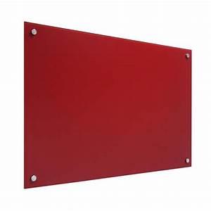 Tableau En Verre : tableau verre magn tique rouge 35x35 achat vente ~ Melissatoandfro.com Idées de Décoration