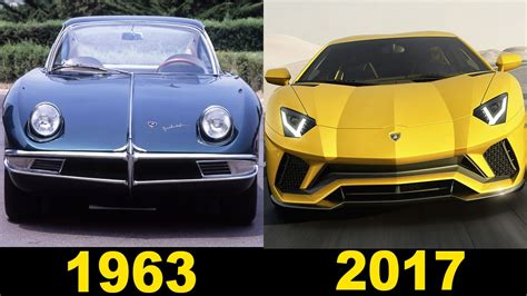 Lamborghini - Evolution (1963 - 2017) - YouTube