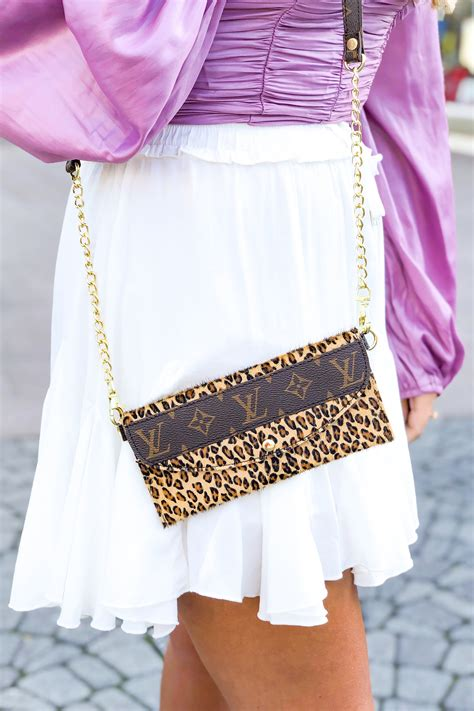 repurposed louis vuitton cowhide crossbody purse kendry collection kendry collection boutique