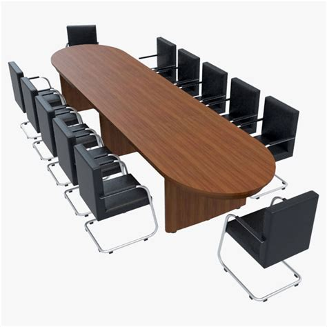 conference room table furniture conference table chairs 1 3ds