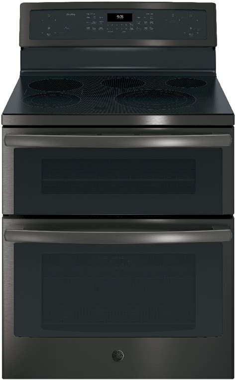 ge profile black stainless double electric pbbjts
