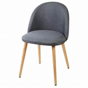 Chaise En Tissu Gris : macaron chaise en tissu gris anthracite pieds en bois style scandinave l 50 x p 50 cm ~ Teatrodelosmanantiales.com Idées de Décoration