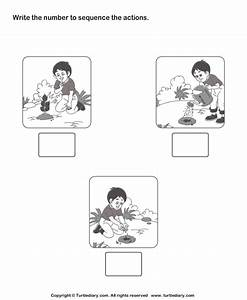 Picture Sequencing Boy Planting a Tree Worksheet - Turtle ...