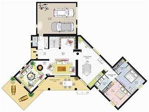 Plan Maison U : plan architecte gratuit en ligne tourisme miramont ~ Dallasstarsshop.com Idées de Décoration