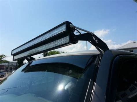 50 inch dual stacked led light bars complete setup for toyota