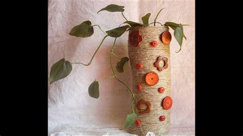 vaso di plastica tutorial di riciclo creativo vaso plastica e corda