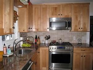 Elegant Brick Backsplash in the Kitchen Presented with
