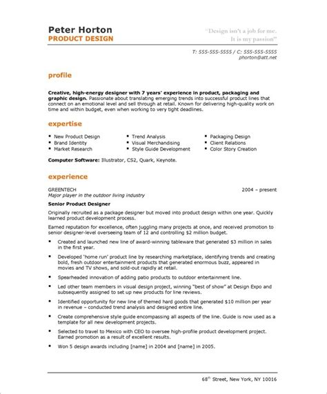 product designer free resume sles blue sky resumes