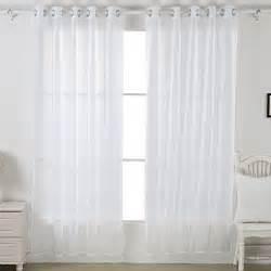 sheer voile curtains transparent curtains grommet curtains