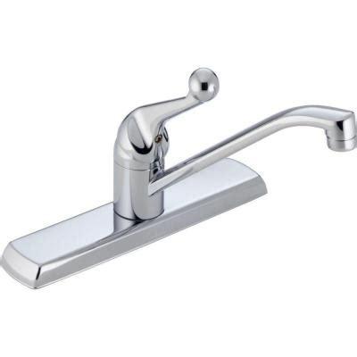 home depot kitchen faucets delta delta single handle standard kitchen faucet in