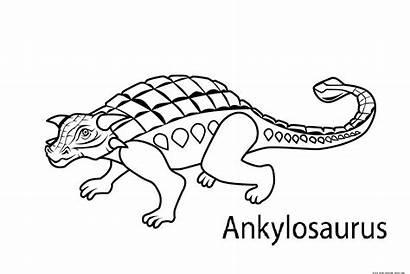 Coloring Pages Dinosaur Printable Ankylosaurus