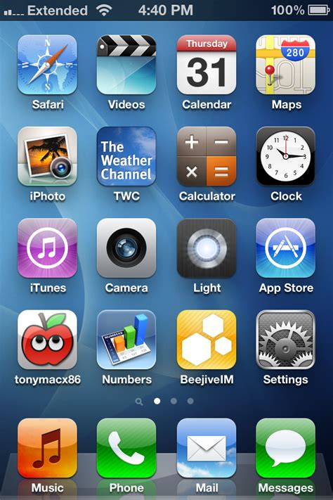 iphone home page post a screenshot of your iphone home screen tonymacx86