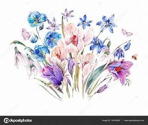 fleurs bleues sauvages printemps With tapis chambre bébé avec bouquet de fleurs sauvages