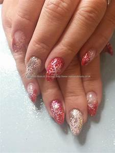 Eye Candy Nails & Training - Red and silver glitter with ...