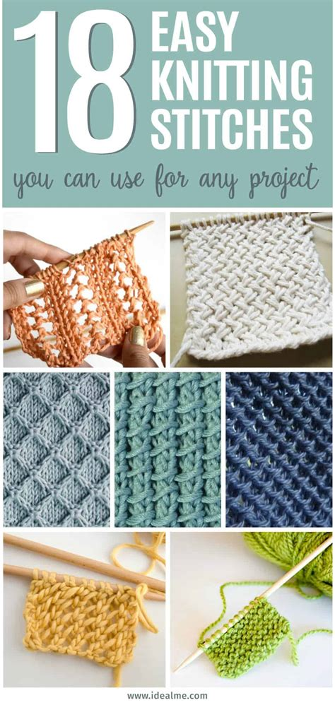 easy knitting stitches      project