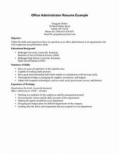 Resume Examples For Highschool Students With No Work