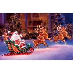 decor seasonal buy christmas outdoor decor holographic santa sleigh deer sale