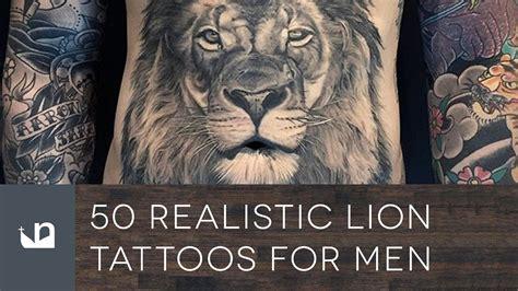 Tatouage Lion Realiste