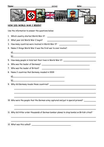 how did world war ii begin by mike ennington teaching