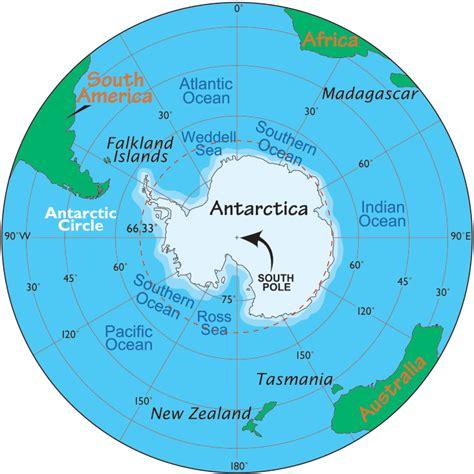 antarctica map map  antarctica facts