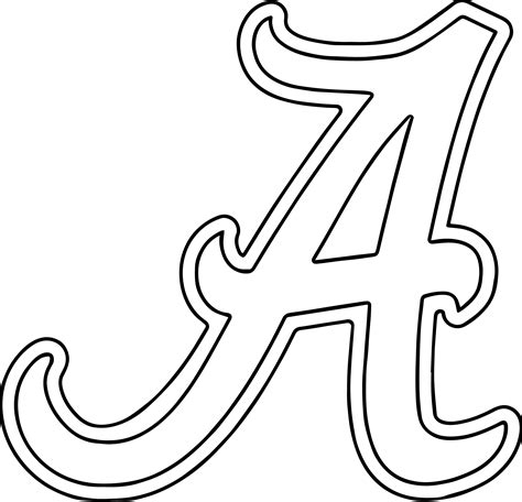 alabama university  alabama  text coloring page