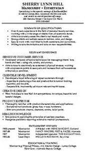 skin care professional resume resume sles mixed bag damn resume guide