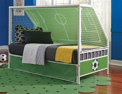 score big   soccer theme childs bed goal keeper