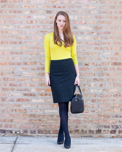 Work Wear Neon Yellow Green Sweater Quilted Kate Spade - Style by Joules