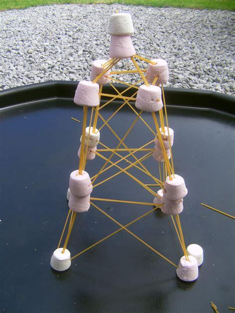 building blackpool tower  spaghetti  marshmallows