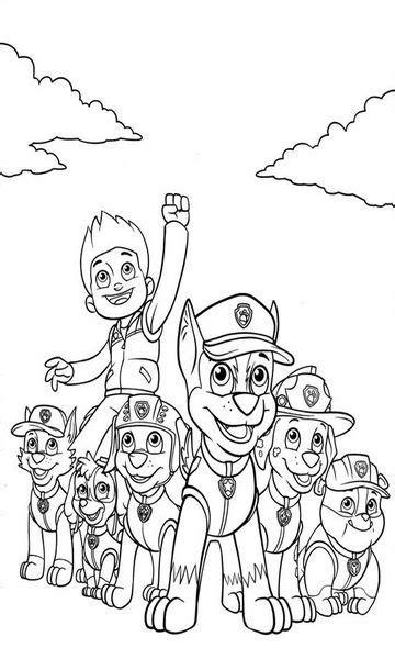 kolorowanka psi patrol do wydruku malowanka nr 6 karty paw patrol coloring pages paw patrol