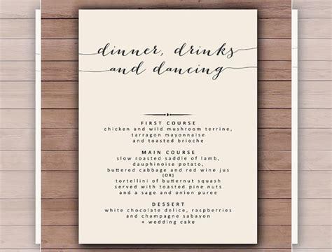 dinner menu template   word  psd eps