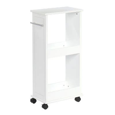 Target White Cabinet by Rolling Side Cabinet With Shelves White Riverridge Target
