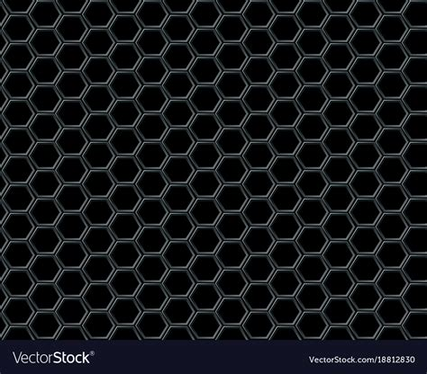 Abstract Black Texture Background Hexagon by Black Hexagon Mesh On Black Background Design Vector Image