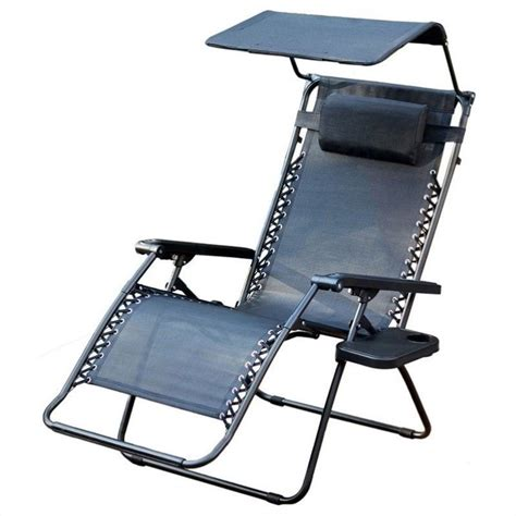 jeco oversized zero gravity chair with sunshade in black gc4