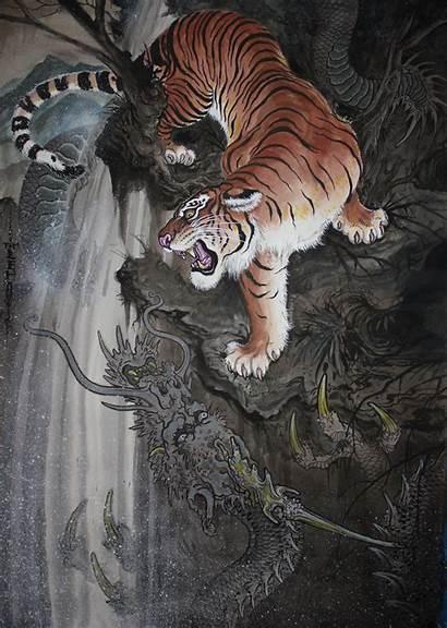 Tattoo Tiger Dragon Tim Wallpapers Mobile Desktop