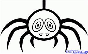 How to Draw a Halloween Spider, Step by Step, Halloween ...