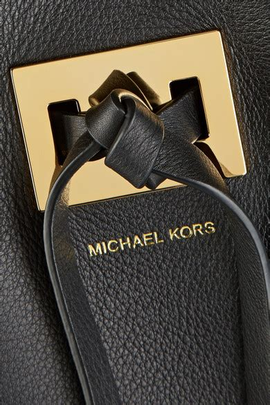 michael kors collection miranda large leather bag
