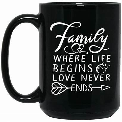 Never Ends Begins Where Coffee Mug Quote