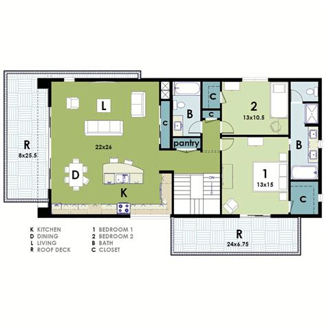 Modern Cube House Floor Plans