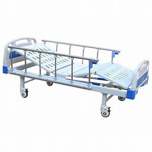 China Sk031 Stainless Steel Two Cranks Manual Hospital Bed