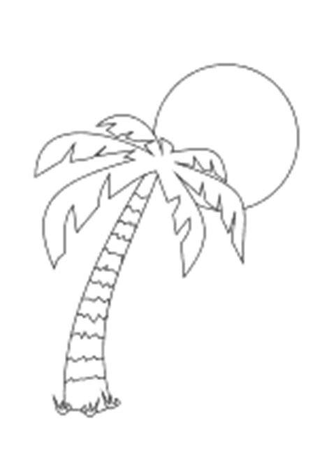 malvorlagen baeume und palmen ausmalbilder fuer kinder