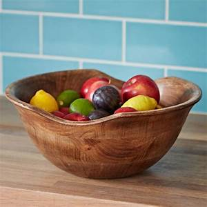 Natural, Wooden, Fruit, Bowl, By, Paper, High