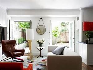 fauteuil cuir marron pour rechauffer linterieur contemporain With tapis moderne avec salon cuir canapé 2 fauteuils
