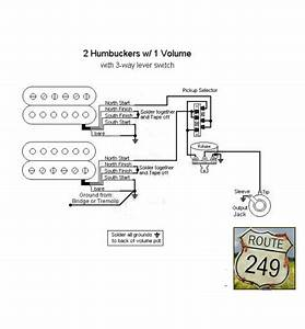 Wiring Two Humbuckers With One Volume Knob